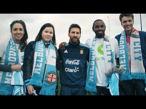 Messi surprises CanTeen heroes at CFA Melbourne