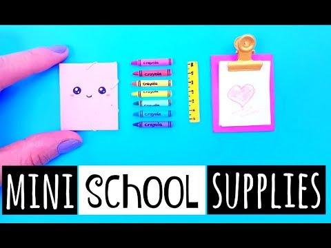 4 DIY MINIATURE SCHOOL SUPPLIES - Cute & Easy DIY Ideas!