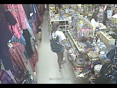Shoplifter in chinatown gift shop San francisco