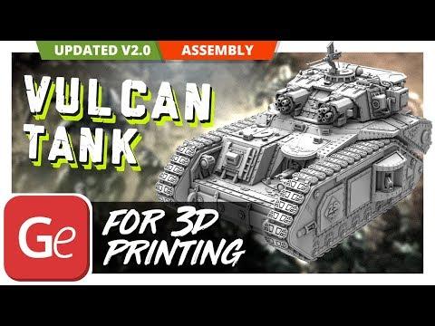 Vulcan Tank 3D Printing Figurine | Assembly by Gambody