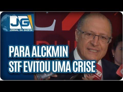 Para Alckmin, STF evitou uma crise