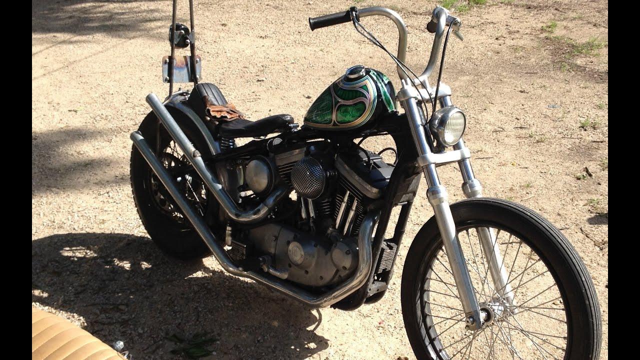 Best motorcycle handlebars - Harley Sportster Chop Project Update New Sissybar And Handlebars Youtube