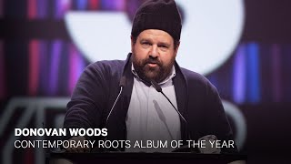 Donovan Woods wins Contemporary Roots Album of the Year   Live at the 2019 JUNO Gala Dinner & Awards