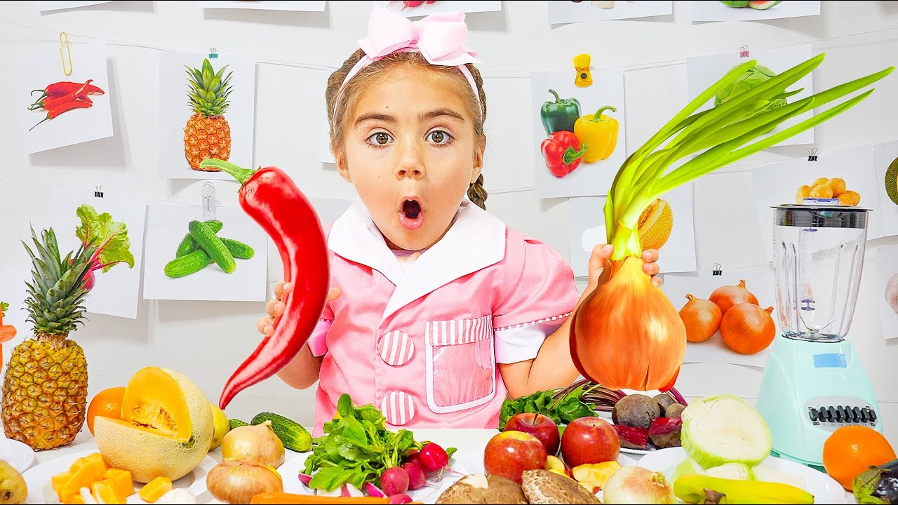 Mia opened Smoothie Cafe  competition Delicious vegetables and fruits  Nastya Artem Mia | Collection