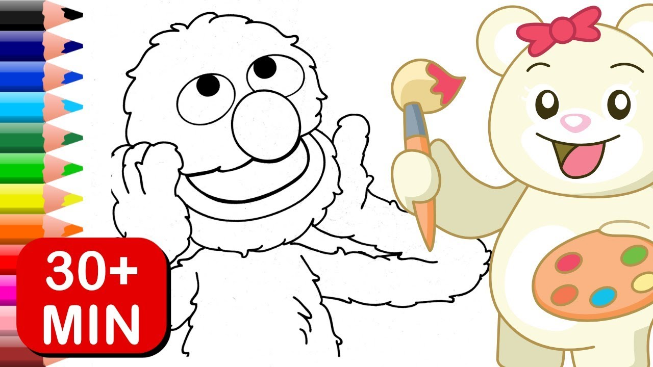 Grover Sesame Street Coloring Pages for Kids - YouTube