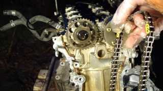 How to disassemble engine VVT-i Toyota Part 14-15/31: Timing chain