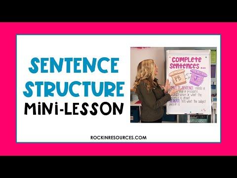 Sentence Structure Mini-Lesson