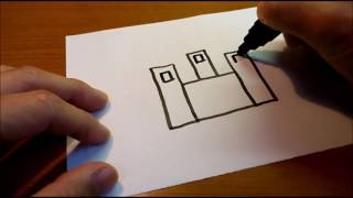 Very Easy ! How to Draw a Castle   art on paper for kids