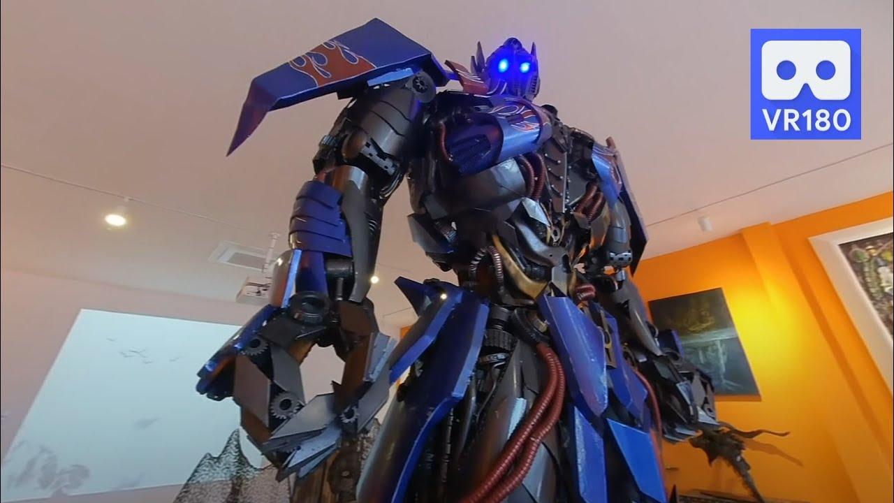 3D 180VR 4K Powerful Robot Transformers Optimus Prime