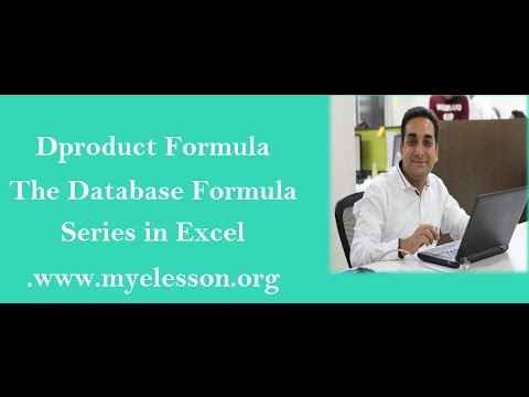 Dproduct Formula in Excel