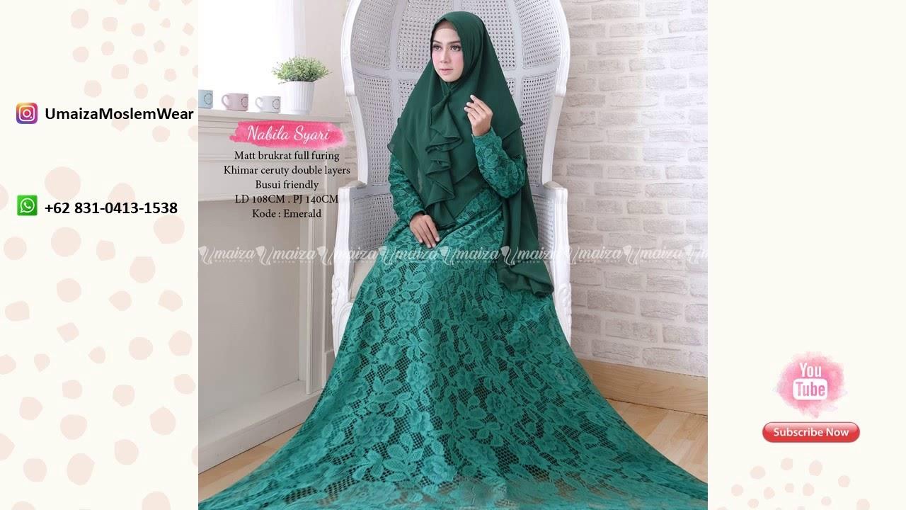 Gamis Gaun Brokat Gambar Islami