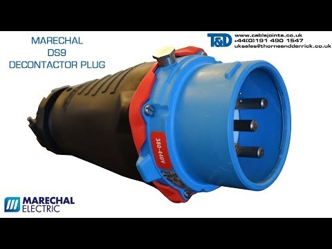Marechal DS9 Plug (Straight Elastomer + Inlet) 1000V - DS Decontactor GRP 150Amp