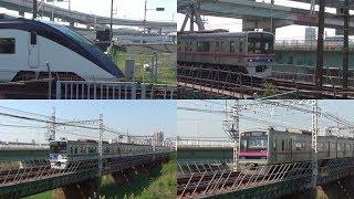 [60p]響く鉄橋ジョイント! 京成線 堀切菖蒲園~関屋にて