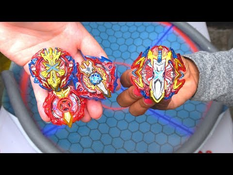 BUSTER XCALIBUR vs ALL XCALIBUR XCALIUS | Beyblade Burst Super Z ベイブレードバースト 超ゼツ