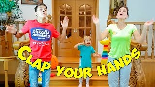 Family fun with the Clap your hands song, nursery rhymes for children
