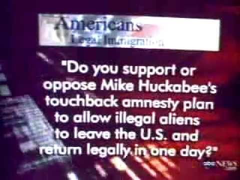 Mike Huckabee Supports amnesty for illegals