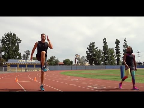 Red Bull The Crossover | Blake Griffin Trains with Track & Field Champ Carmelita Jeter