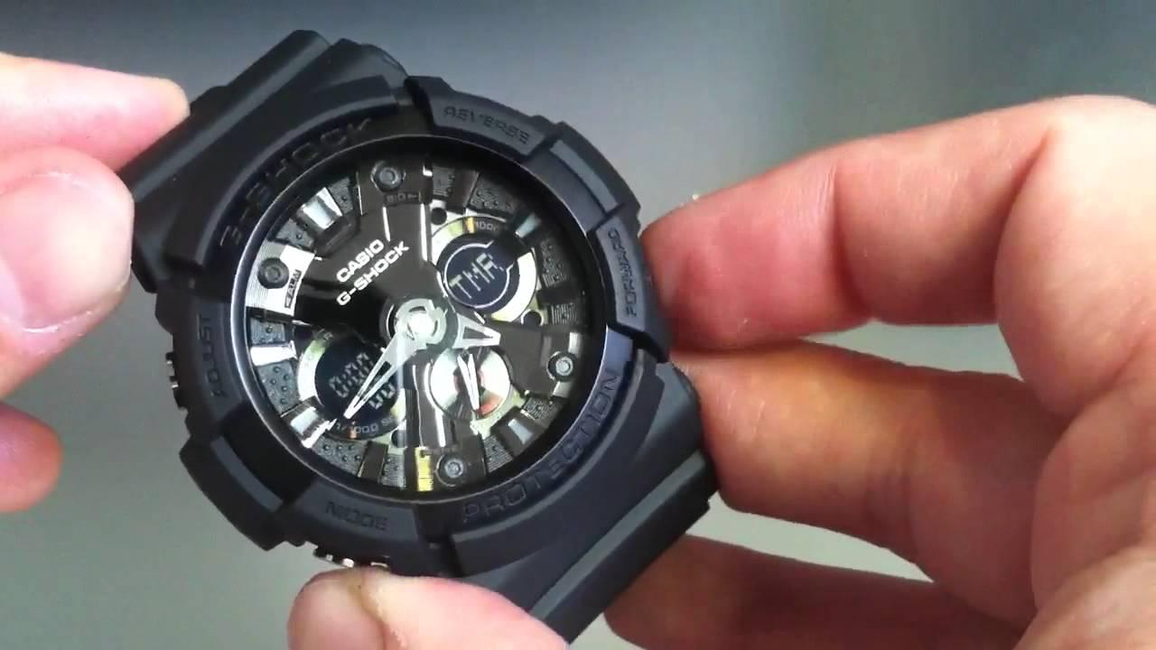 4dcb692c14b Black Casio G-Shock Anti-Magnetic Watch GA201-1A - YouTube