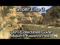 Sniper Elite 3 100 Collectibles Guide Mission 6 Diaries, Cards, Nests, Shots Upgrades