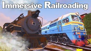 Обзор мода Immersive Railroading//ЛУЧШИЙ МОД НА ПОЕЗДА