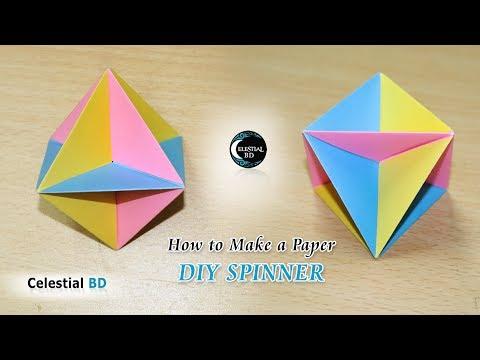 Spinner Origami || DIY Spinner || How to make a paper spinner