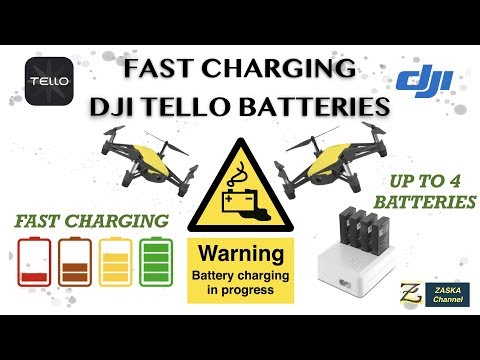 Charging DJI Tello Batteries fast - Fastest way to charge