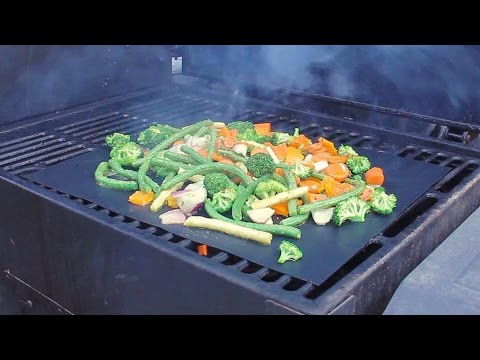 Bbq Grill Mat Review With Grilled Vegetables Youtube