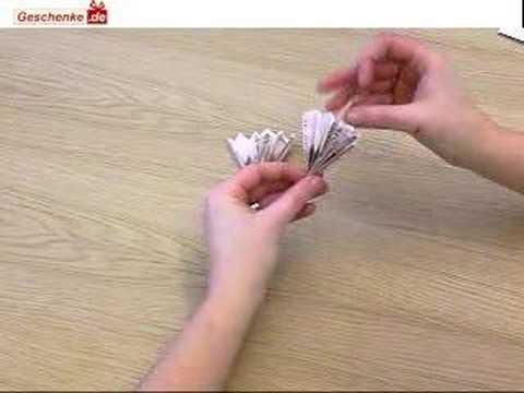 Origami Geldschein Zum Facher Falten Youtube