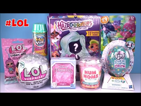 hairdorables-dolls-lol-surprise-bling-series-doll-num-noms-my-litttle-pony-toys-unboxing-kids-fun