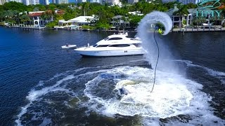 Amazing Lazzara Yacht Video With Professional Flyboard Jet Pack Champion