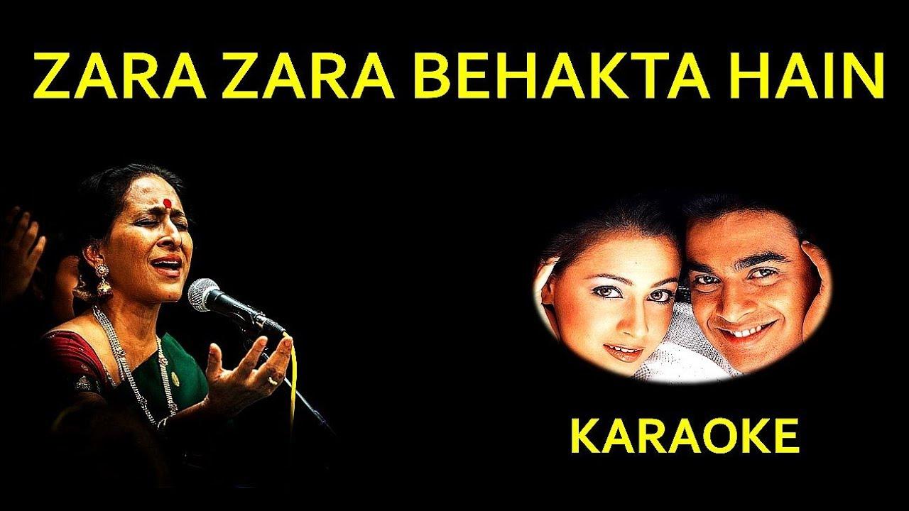 zara zara bahekta hai karaoke - YouTube