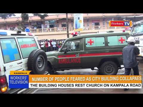 SEVERAL PEOPLE FEARED DEAD AS FIDODIDO  BUILDING HOUSINSING REST CHURCH ON KAMPALA ROAD COLLAPES
