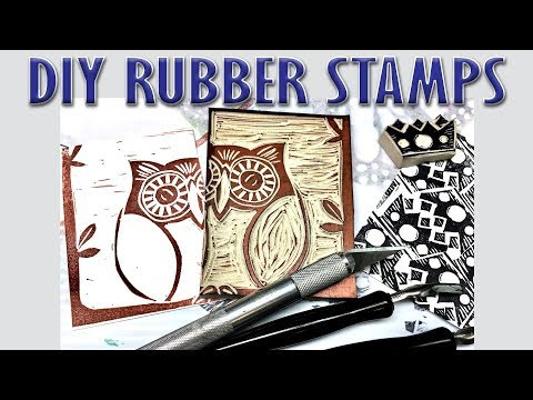 SURPRISE! Live Rubber Stamp Carving for #Playlive for St. Jude's Children's Hospital
