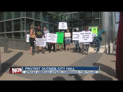 Protest Outside City Hall Calls For African American Commission