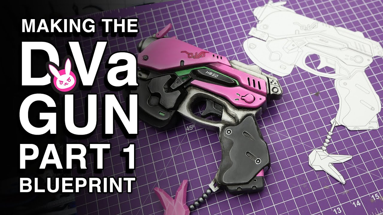 Creating a blueprint d gun replica part 1 youtube malvernweather Image collections