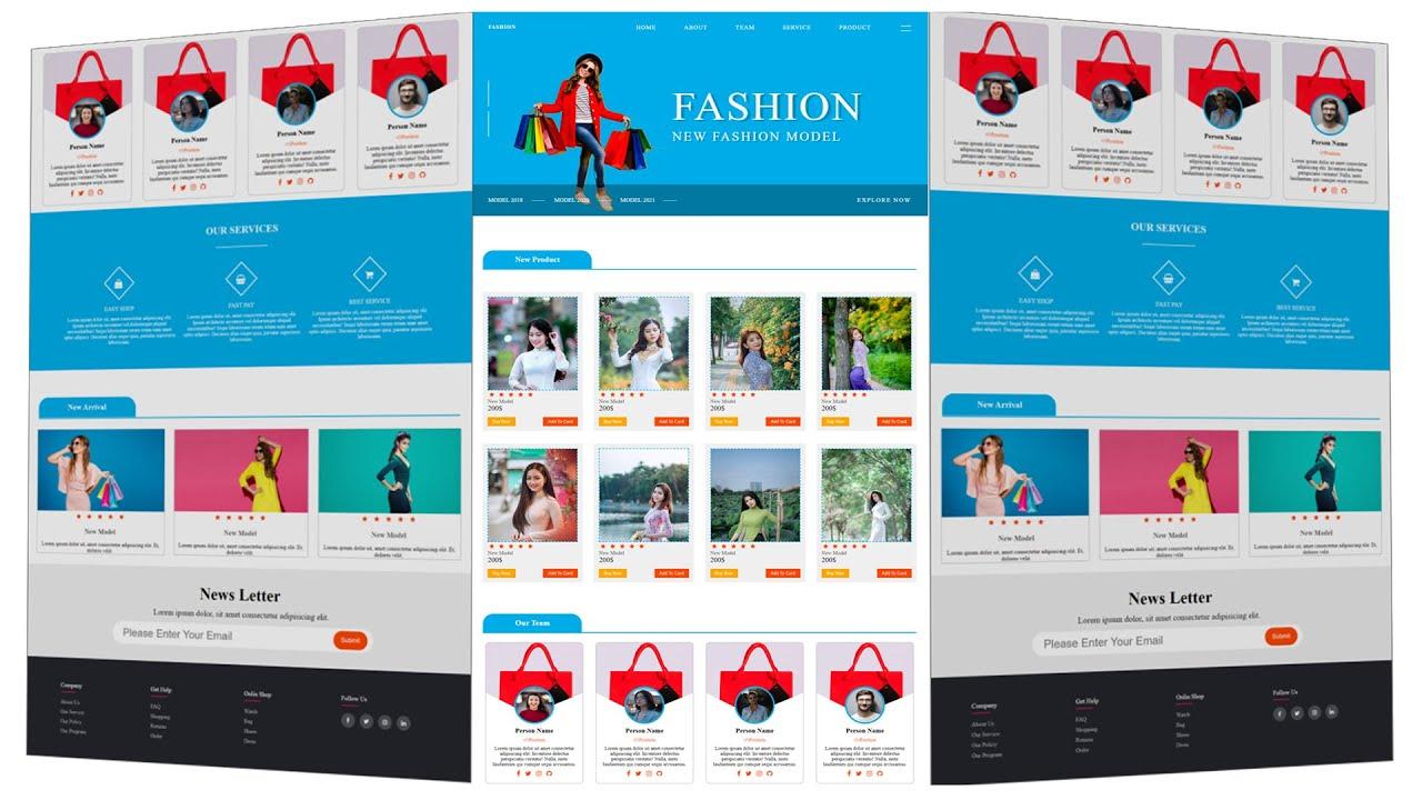 Online Shopping E-commerce Responsive Website Using HTML/CSS