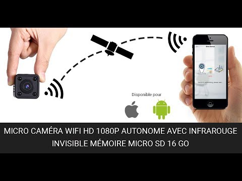 micro cam ra wifi hd 1080p autonome avec infrarouge invisible m moire microsd 16go youtube. Black Bedroom Furniture Sets. Home Design Ideas