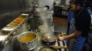 Indian Street Food: Paneer Chilli Gravy + Garlic/Capsicum Naan + Paneer 65 At Bombay Bawarchi London