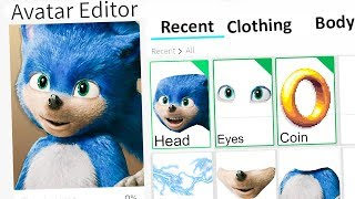 MAKING BAD SONIC A ROBLOX ACCOUNT!!