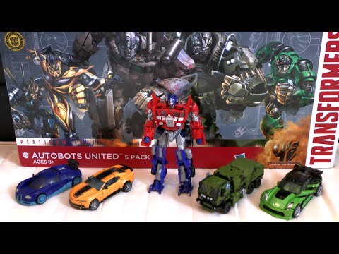 TRANSFORMERS 4 Age of Extinction AUTOBOT PLATINUM EDITION Autobots United 5 pack | ATR