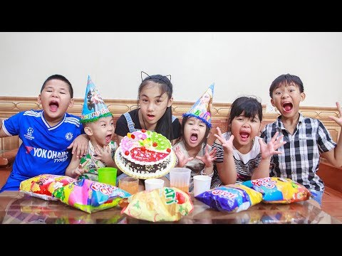 Kids Go To School | Day Birthday Of Chuns Children Go Supermarket Food Shopping