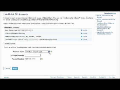 Citibank Account Online >> Citi Quicktake Demo How To Link Accounts Using Citibank Online