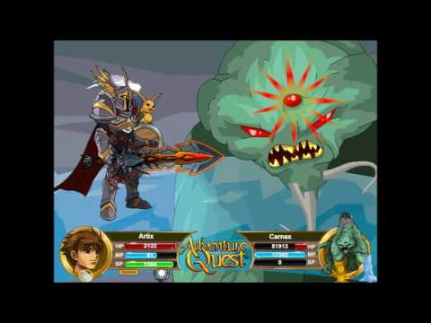Adventure Quest: Beating  the UNBEATABLE CARNAX! ARTIX FORM!