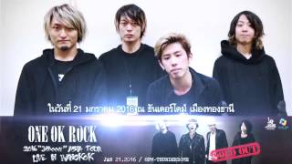"【One OK Rock】ONE OK ROCK 2016 ""35xxxv"" Asia Tour Live In Bangkok"