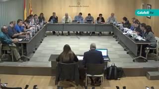 Ajuntament de Calafell: sessió plenària ordinària, 2 de novembre de 2016