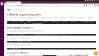 prueba de instalar asterisk en ubuntu 16.4