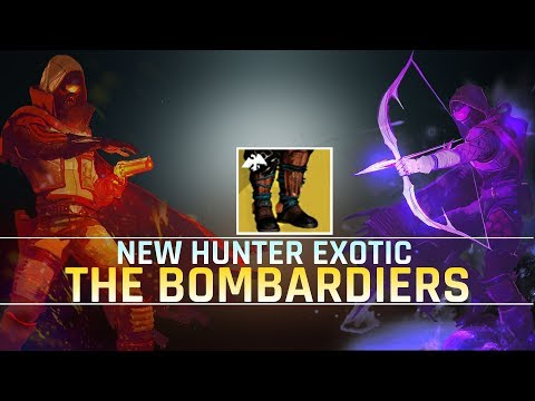 Destiny 2 | New hunter exotic BOMBARDIERS | Damage test, quick overview