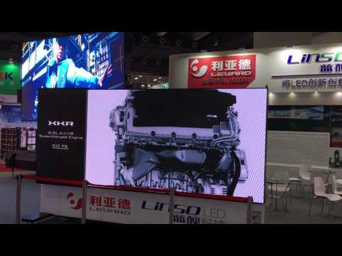 Indoor Horizontal Sliding led display and the outdoor LED display trailer