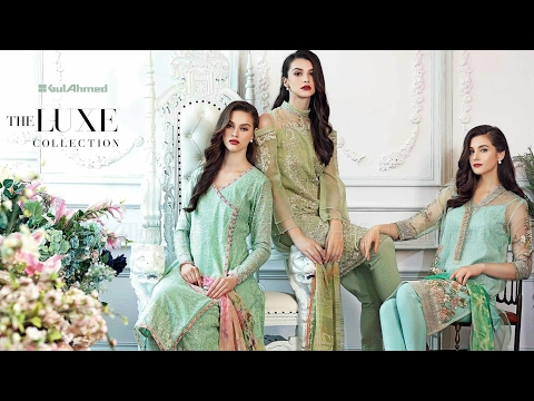 Gul Ahmed Luxe Luxury Festive Collection 2017 by Sara Clothes