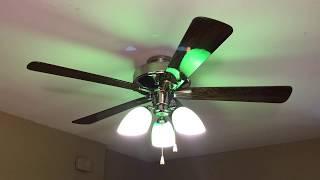 "Hunter Infiniti Ceiling Fan 52"" (Bankers Light Kit)(No Commentary)"
